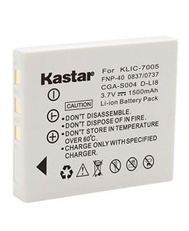 Kastar Battery for Fujifilm NP-40, Panasonic CGA-S004, DMW-BCB7, Kodak KLIC-7005, Samsung SLB-0737, SLB-0837, Sanyo NP-40, Pentax D-Li8, Benq Dli-102, Konica Minolta NP-1 and DE-992, BC-40, SBC-L5