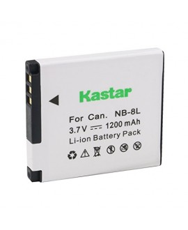 Kastar Battery (1-Pack) for Canon NB-8L and CB-2LAE work with Canon PowerShot A2200, A3000 IS, A3100 IS, A3200 IS, A3300 IS Cameras