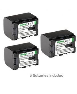[Fully Decoded] Kastar BN-VG121 Battery (3-Pack) for JVC BN-VG107/VG107U/VG107US, BN-VG114/VG114U/VG114US, BN-VG121/VG121U/VG121US and JVC Everio GZ-E10,GZ-E100,GZ-E200,GZ-E300,GZ-E505,GZ-E565,GZ-EX210,GZ-EX215,GZ-EX245,GZ-EX250,GZ-EX265,GZ-EX275,GZ-EX310