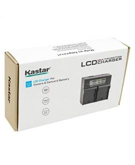 Kastar LCD Dual Fast Charger for Panasonic CGA-DU21 DU07 DU14 NV-GS400 GS408 GS500 GS508 MX500 PV-GS150 GS180 GS320 GS400 GS500 SDR-H48 H68 H200 H250 H280 VDR-D258 D300 D308 D310 D400 M74 M75 M95 M250