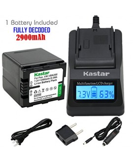 Kastar Ultra Fast Charger(3X faster) Kit and Battery (1-Pack) for Panasonic VW-VBN260 and Panasonic HC-X800 HC-X900 HC-X900M HC-X910 HC-X920 HC-X920M HDC-HS900 HDC-SD800 HDC-SD900 HDC-TM900 Cameras