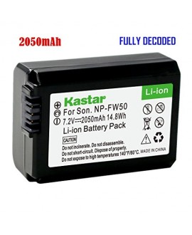 Kastar Battery (1-Pack) for Sony NP-FW50 BC-VW1 BC-TRW and Sony Alpha 7 a7 a7R a3000 a5000 a6000 NEX-3 3N NEX-5 5N 5R 5T NEX-6 NEX-7 NEX-C3 NEX-F3 SLT-A33 A35 A37 A55V Cyber-shot DSC-RX10 Cameras
