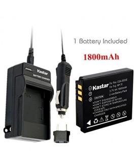 Kastar Battery 1X + Charger for Fujifilm NP-70 NP70 FNP-70 & Fuji FinePix F20, F20 Zoom, F40fd, F45fd, F47fd and Leica D-LUX3, Leica C-LUX 1, Leica D-LUX2, Ricoh Caplio R3, Ricoh Caplio GR Cameras