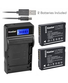 Kastar Battery (X2) & SLIM LCD Charger for Panasonic DMW-BCG10 and Lumix DMC-ZS1, ZS3, ZS5, ZS6, ZS7, ZS8, ZS10, ZS15, ZS19, ZS20, DMC-TZ7, DMC-TZ10, DMC-TZ19, DMC-TZ20, DMC-TZ30, DMC-ZR1, DMC