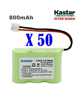 Kastar 50-PACK 2/3AA 3.6V 800mAh EH Ni-MH Rechargeable Battery for AT&T 2422 80-5074-00-00 Lucent 2422 Vtech ia5870 ia5882 Sanik 3SN-2/3AA30-S-J1 Cordless Phone (Check your Cordless Phone Model down)