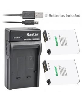 Kastar Battery (X2) & Slim USB Charger for Nikon EN-EL12, ENEL12, MH-65 Coolpix S9900, S9700, AW120, S9500, AW110, S70, S9600, S6300, S6200, S8100, S9100, S800c, S31 Digital Cameras + More