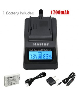 Kastar Ultra Fast Charger(3X faster) Kit and BP110 Battery (1-Pack) for Canon BP-110 and Canon VIXIA HF R20, HF R21, HF R200, HF R26, HF R28, HF R206, XF105 Cameras [with portable USB charge function]