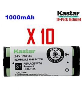 Kastar HHR-P105 Battery (10-Pack), Type 31, NI-MH Rechargeable Cordless Telephone Battery 2.4V 1000mAh, Replacement for Panasonic HHRP105 HHR-P105 HHRP105A HHR-P105A KX242 KX-242 KX2420 KX-2420 KX2421 KX-2421 KX2422 KX-2422 KXTG5779 KX-TG5779 Dantona BATT
