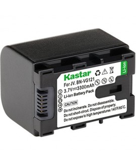 [Fully Decoded] Kastar BN-VG121 Battery (1-Pack) for JVC Everio GZ-E Series, GZ-EX Series, GZ-HD Series, GZ-HM3 Series and GZ-MG750, GZ-MS110, GZ-MS230, GZ-MS250, GZ-G3, GZ-GX1, GZ-GX8 Cameras