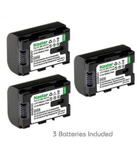 [Fully Decoded] Kastar BN-VG114 Battery (3-Pack) Replacement for JVC BN-VG107 BN-VG107U BN-VG107US BN-VG114 BN-VG114U BN-VG114US BN-VG121 BN-VG121U BN-VG121US Battery and JVC Everio Cameras