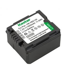 Kastar VBG130 Battery for Panasonic VW-VBG070, VW-VBG130, VWVBG260 Battery and Panasonic SDR-H40, SDR-H80 Series, HDC-HS700, TM700, HS300, TM300, HS250, SD20, HS20, HDC-SDT750 Camcorders