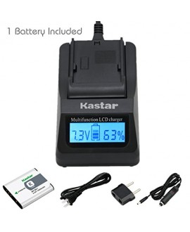 Kastar Ultra Fast Charger Kit and Battery (1-Pack) for Sony NP-BK1, BC-CSK work with Sony Bloggie MHS-CM5, MHS-PM5, Cyber-shot DSC-S750, DSC-S780, DSC-S950, DSC-S980, DSC-W180, DSC-W190, DSC-W370, Webbie MHS-PM1 Cameras [Over 3x faster than a normal charg