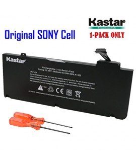 Kastar New Laptop Battery (1-Pack) for Apple A1322 A1278 (Only for Mid 2009 Mid 2010 Early 2011 Version) Unibody MacBook Pro 13'', fits 661-5557 661-5229 MB990LL/A MB991LL/A with Two Free Screwdrivers [Li-Polymer 6-cell 10.95V / 63.5Wh]