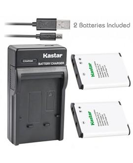 Kastar Battery (X2) & USB Charger for Nikon EN-EL19 & Coolpix S32 S100 S2500 S2600 S2700 S2800 S3100 S3200 S3300 S3400 S3500 S3600 S4100 S4200 S4300 S4400 S5200 S5300 S6400 S6500 S6600 S6700 S6800