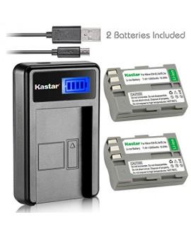 Kastar Battery (X2) & LCD Slim USB Charger for Nikon EN-EL3e, ENEL3E, EN-EL3a, EN-EL3, MH-18, MH-18a and Nikon D50, D70, D70s, D80, D90, D100, D200, D300, D300S, D700 Cameras