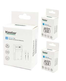 Kastar Battery (X2) & SLIM LCD Charger for Fujifilm NP-85, BC-85, FNP85, NP85 and Fujifilm FinePix S1, FinePix SL240, FinePix SL260, FinePix SL280, FinePix SL300, FinePix SL305, FinePix SL1000