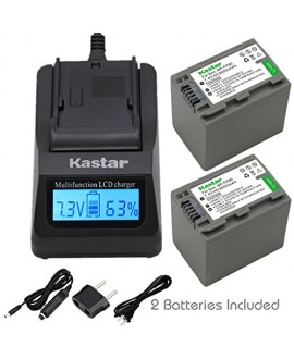 Kastar Ultra Fast Charger(3X faster) Kit and Battery (2-Pack) for Sony NP-FP90 and Sony DCR-30, DVD92, DVD103, DVD105, DVD202, DVD203, DVD205, DVD304, DVD305, DVD403, DVD404, DVD405, DVD505, DVD602, DVD605, DVD653, DVD703, DVD705, DVD755, DVD803, DVD805,