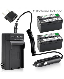 Kastar Battery 2x & AC Travel Charger for Samsung SB-L320 and SC-L520 530 550 600 610 630 650 700 710 750 770 810 VP-W75D VM-B5700 VM-C170 VM-C300 VM-C3700 VP-W80 VP-W80U VP-W87 VP-W87D VP-W90 VP-W97