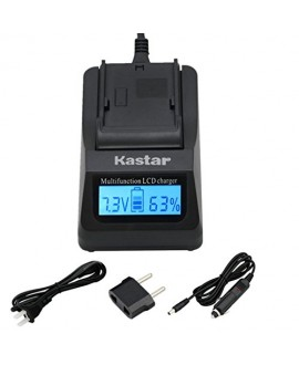 Kastar Ultra Fast Charger(3X faster) Kit for LP-E5, LC-E5E work with Canon EOS 450D, 500D, 1000D, Kiss F, Kiss X2, Kiss X3, Rebel XS, Rebel XSi, Rebel T1i Digital Cameras