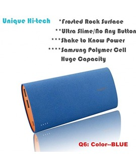 Kastar Unique Hi-tech NO Any Button with SHAKE to Wake Power Indicators and Rock Surface Design High Capacity Portable External Battery Pack Power Bank Backup for iPhone 6, 6 plus, 5S, 5C, 5, 4S, 4, iPad Air/iPad5, 4, 3, 2, 1, Mini 1,2, iPod, Samsung Gala