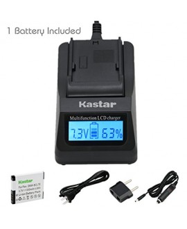 Kastar Ultra Fast Charger(3X faster) Kit and Battery (1-Pack) for Panasonic DMW-BCL7E, DMW-BCL7 work with Panasonic Lumix DMC-F5, Panasonic Lumix DMC-FH10, Panasonic Lumix DMC-FS50, Panasonic Lumix DMC-SZ3, Panasonic Lumix DMC-SZ9, Panasonic Lumix DMC-XS1
