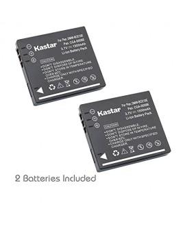 Kastar Battery (2-Pack) for Panasonic Lumix CGA-S008 DMW-BCE10 VW-VBJ10E BP-DC6 & Panasonic Lumix DMC-FX520 SDR-S25 SDR-S26 DMC-FS20 DMC-FX37 DMC-FX55 DMC-FX500 DMC-FS5 DMC-FX30 DMC-FX33 DMC-FX35
