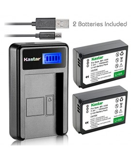 Kastar Battery (X2) & LCD Slim USB Charger for Samsung BP1030, BP1030B, BP1130, ED-BP1030 and Samsung NX200, NX210, NX300, NX300M, NX1000, NX1100, NX2000 Cameras