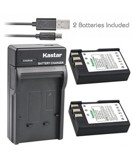 Kastar Battery (X2) & Slim USB Charger for Nikon EN-EL9, ENEL9, EN-EL9a, ENEL9A, MH-23 and Nikon D3000, D5000, D40, D60, D40X SLR Cameras