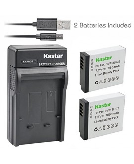Kastar Battery (X2) & Slim USB Charger for Panasonic DMW-BLH7 DMW-BLH7E DMW-BLH7PP work with Panasonic Lumix DMC-GM1 DMC-GM1K DMC-GM5 DMC-GF7 Cameras