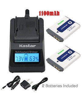 Kastar Fast Charger and Battery (2-Pack) for Sony NP-BD1, NP-FD1, BC-CSD and Cyber-shot DSC-G3, DSC-T2, DSC-T70, DSC-T75, DSC-T77, DSC-T90, DSC-T200, DSC-T300, DSC-T500, DSC-T700, DSC-T900, DSC-TX1