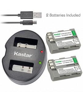 Kastar Battery (X2) & Dual USB Charger for Nikon EN-EL3e, ENEL3E, EN-EL3a, EN-EL3, MH-18, MH-18a and Nikon D50, D70, D70s, D80, D90, D100, D200, D300, D300S, D700 Cameras