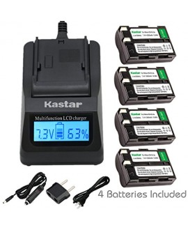 Kastar Ultra Fast Charger(3X faster) Kit and EN-EL3A Battery (4-Pack) for Nikon EN-EL3a, EN-EL3, MH-18, MH-18a and Nikon D50, D70, D70s, D100 Cameras