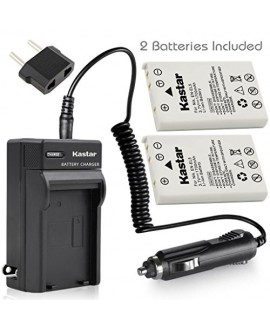 Kastar Battery (X2) & AC Travel Charger for Nikon EN-EL5, ENEL5, MH-61 and Nikon Coolpix 3700, 4200, 5200, 5900, 7900, P3, P4, P80, P90, P100, P500, P510, P520, P530, P5000, P5100, P6000, S10 Cameras