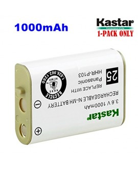 Kastar HHR-P103 Battery (1-Pack), Type 25, NI-MH Rechargeable Battery 3.6V 1000mAh, Replacement for Panasonic HHR-P103 / P-P103, AT&T, GE, Vtech Cordless phone (Detail Models in the Description)