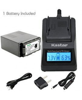Kastar Ultra Fast Charger(3X faster) Kit and Battery (1-Pack) for Panasonic VW-VBG6 and Panasonic AG-AC7, AG-AC130A, AG-AC160A, AF100, HMC40, HMC70, HMC80, HMC150, HMC153, HMR10, HSC1U, HDC-DX1, DX3, HS9, HS20, HS100, HS200, HS250, HS300, HS350, HS700, MD