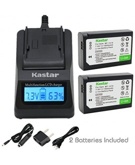 Kastar Ultra Fast Charger(3X faster) Kit and BP-1410 Battery (2-Pack) for Samsung BP1410 and Samsung NX30 WB2200F Digital Cameras