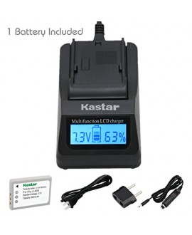 Kastar Ultra Fast Charger(3X faster) Kit and Battery (1-Pack) for Olympus Li-80B and Konica Minolta NP-900 work with Olympus T-100,t-110,x-36 and Konica Minolta DiMAGE E40, E50, KYOCERA EZ4033 etc. Cameras [Over 3x faster than a normal charger with portab