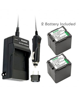 Kastar VW-VBG260 Battery (2X) and Charger for Panasonic AG-AC7 AG-AF100 AG-HMC40 AG-HMC80 AG-HMC150 HDC-HS250 HDC-HS300 HDC-HS700 HDC-SD600 HDC-SD700 HDC-SDT750 HDC-TM300 HDC-TM700 SDR-H80 Cameras