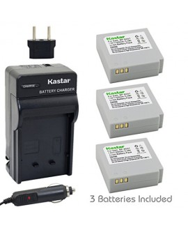Kastar Battery (3-Pack) and Charger Kit for Samsung IA-BP85NF, IA-BP85ST work with Samsung HMX-H100, HMX-H104, HMX-H105, HMX-H106, SC-HMX10, SC-HMX20C, SC-MX10, SC-MX20, SMX-F30, SMX-F33, SMX-F34, VP-HMX08, VP-HMX10, VP-HMX10C, VP-HMX20C, VP-MX10, VP-MX20