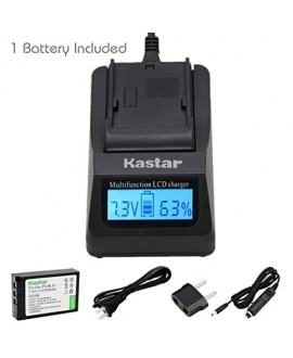 Kastar Ultra Fast Charger(3X faster) Kit and Battery (1-Pack) for Olympus BLS-1, PS-BLS1 work for Olympus E-400 E-410 E-420 E-450 E-600 E-620 E-P1 E-P2 E-P3 E-PL1 E-PL3 E-PM1 Cameras [Over 3x faster than a normal charger with portable USB charge function]