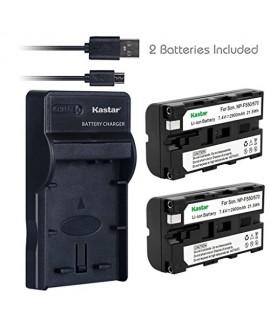Kastar Battery (X2) & Slim USB Charger for Sony NP-F570 NP-F550 NP-F330 and CCD-RV100 RV200 SC5 SC9 TR1 TR215 TR940 TR917 Camera, CN-126 CN-160 CN-216 CN-304 VL600 YN 300 LED Video Light