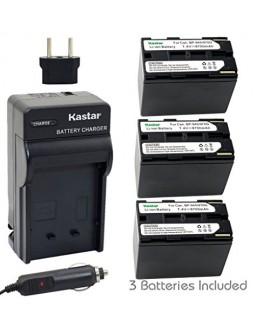 Kastar Battery (3-Pack) + Charger for Canon BP-945, BP-950, BP-970, C2, FV1, FV500, Optura, Ultura, Vistura, DM-XL2, DM-MV20, E65AS, ES-8600, G2000, GL2, MV200i, UC-V300, V75Hi, XH-G1, XL-H1, XM2, XV4