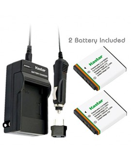 Kastar Battery (X2) & Travel Charger Kit for Kodak KLIC-7001 and Kodak EasyShare M320, M340, M341, M753 Zoom, M763, M853 Zoom, M863, M893 IS, M1063, M1073 IS, V550, V570, V610, V705, V750 Cameras