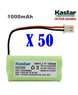 Kastar 50-PACK AAAX2 2.4V 1000mAh 5264 Ni-MH Rechargeable Battery for BT-166342 BT-266342 BT-283342 AT&T EL51100 EL51200 EL51250 EL52200 EL52210 EL52250 EL52300 EL52350 EL52400 EL52450 EL52500 EL52510
