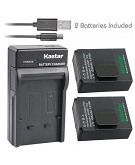 Kastar Battery (X2) & Slim USB Charger for GoPro AHDBT-201, AHDBT-301, AHDBT-302, Gopro3 and GoPro Hero3+, Hero3, HD Motorsports HERO, Surf Hero, Hero Naked, Hero 960, Hero HD 1080p