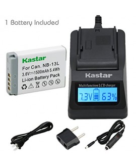 [Fully Decoded] Kastar NB-13L Battery (1-Pack) and Ultra Fast Charger(3X faster) Kit for Canon NB-13L work for Canon PowerShot G5 X, Canon PowerShot G7 X, Canon PowerShot G9 X Digital Camera