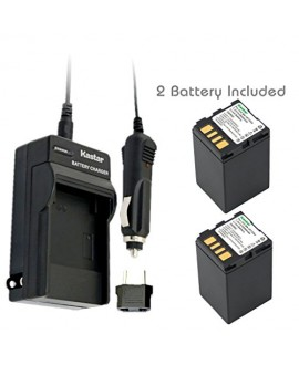 Kastar Battery (2-Pack) and Charger Kit for JVC BN-VF733 and JVC GR-D245, GR-D246, GR-D247, GR-D250, GR-D253, GR-D270, GR-D271, GR-D275, GR-D290, GR-D293, GR-D295, GR-D370, GR-D371, GR-D375, GR-D390, GR-D393, GR-D395, GR-D396, GR-D450, GR-D570, GR-D645, G