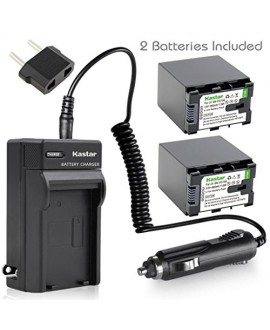 Kastar 2X Battery + AC Travel Charger for JVC BN-VG138, BN-VG138U, BN-VG138US, BN-VG121, BN-VG121U, BN-VG121US, BN-VG107, BN-VG107U, BN-VG108, BN-VG114, BN-VG114U, BN-VG114US, JVC Everio GZ-E Series