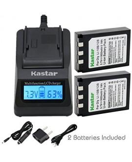 Kastar Ultra Fast Charger(3X faster) Kit and Li-10B Battery (2-Pack) for Olympus LI-10B LI-12B and Olympus Stylus 300,400,500,600,800,C-50,60,70,470,760,770,5000 Camera