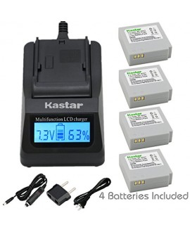 Kastar Ultra Fast Charger(3X faster) Kit and Battery (4-Pack) for Samsung IA-BP85NF, IA-BP85ST work with Samsung HMX-H100, HMX-H104, HMX-H105, HMX-H106, SC-HMX10, SC-HMX20C, SC-MX10, SC-MX20, SMX-F30, SMX-F33, SMX-F34, VP-HMX08, VP-HMX10, VP-HMX10C, VP-HM